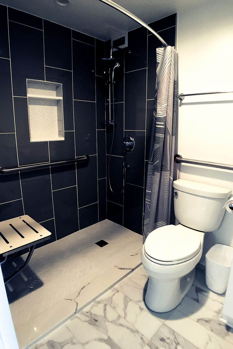 Jewish Senior Living Apartments - The Selfhelp Home Chicago - modern bathroom updated 2020