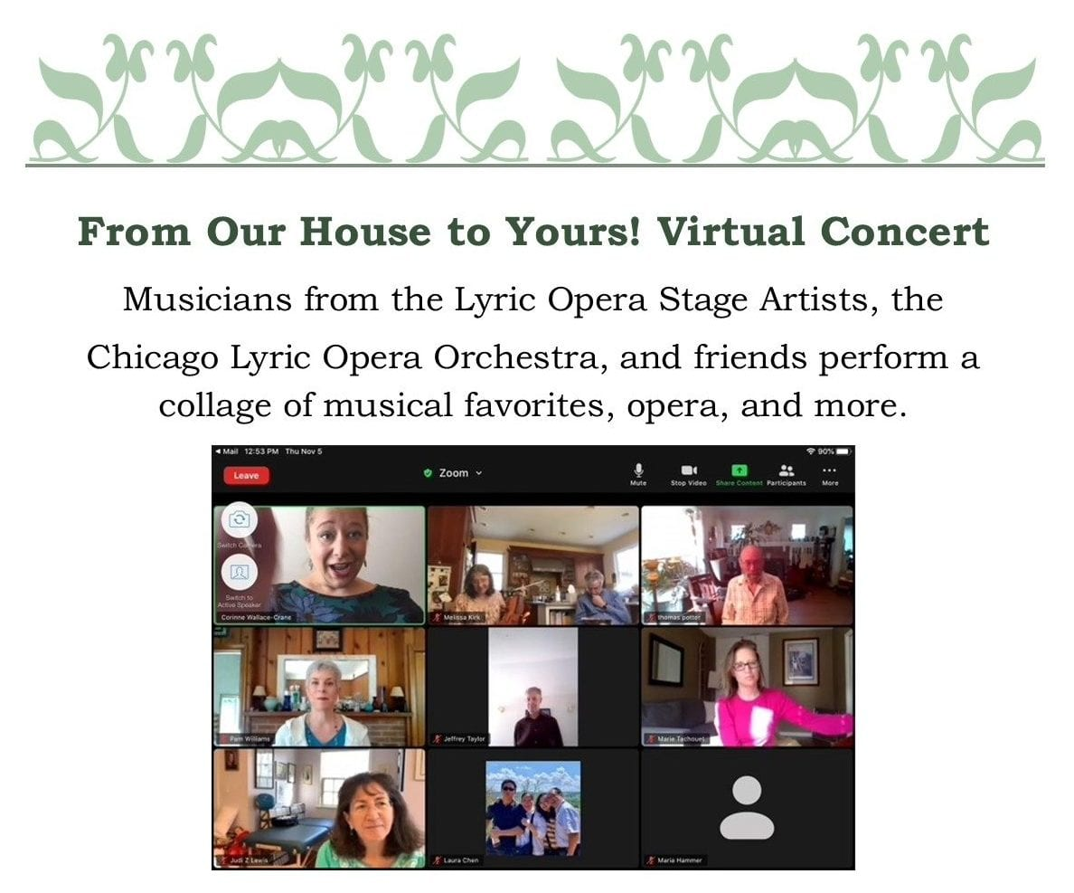 From Our Home to Yours: A Lyric Opera Virtual Concert