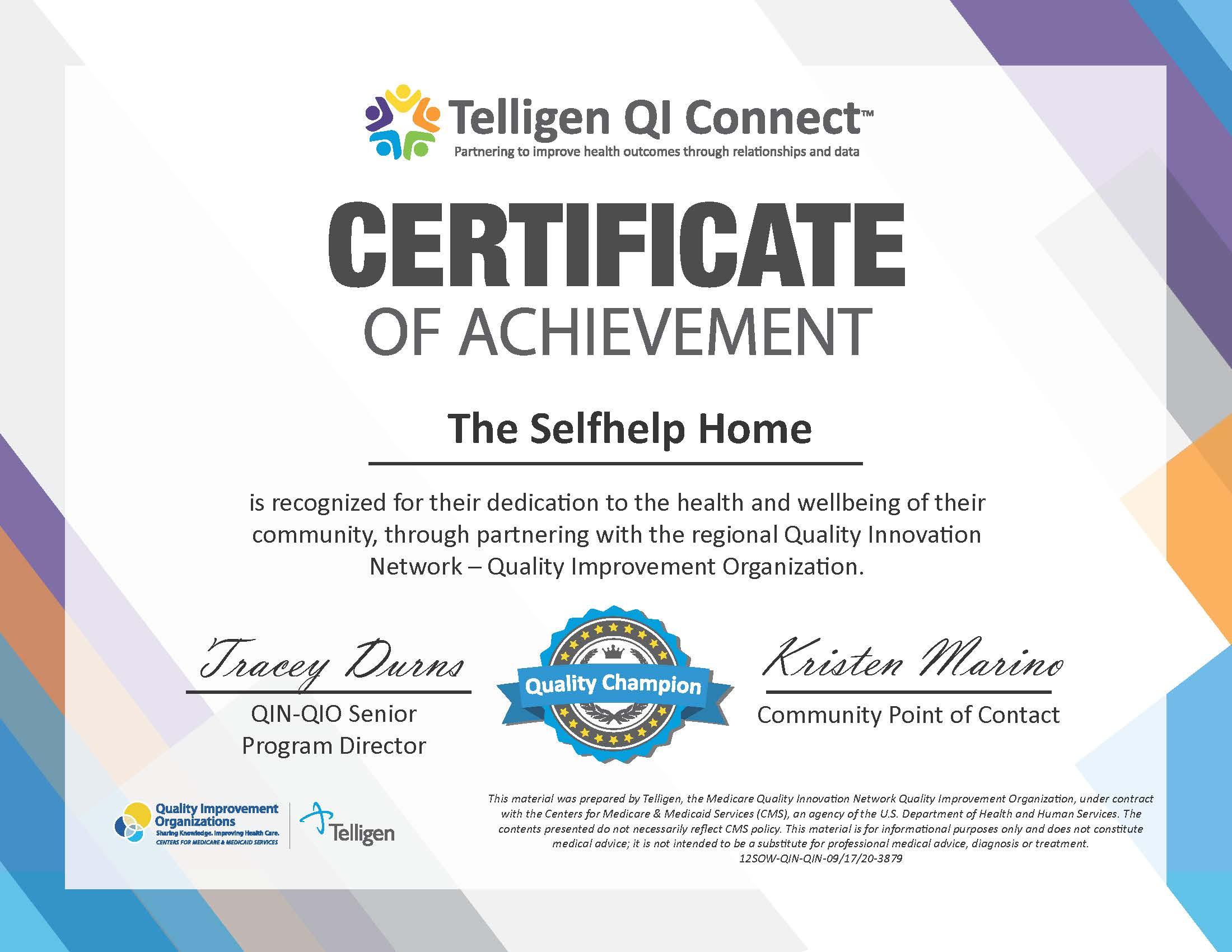 The Selfhelp Home Community Honored as a Statewide Champion - The Selfhelp Home