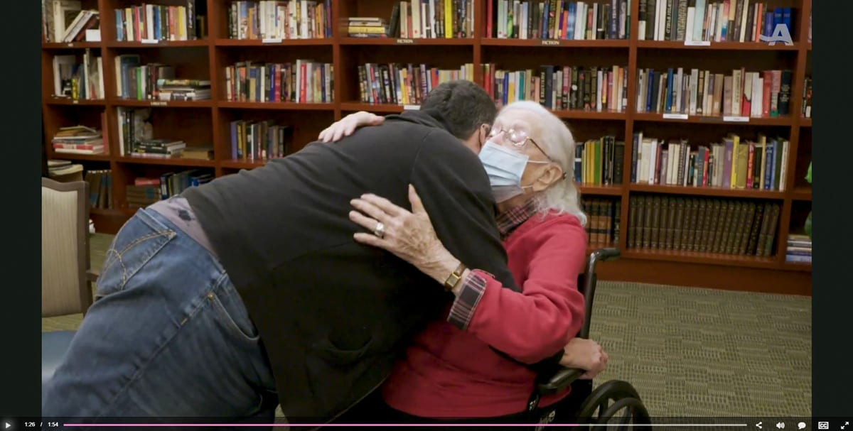 The Selfhelp Home Residents Get First Hugs in a Year - AARP - The Selfhelp Home